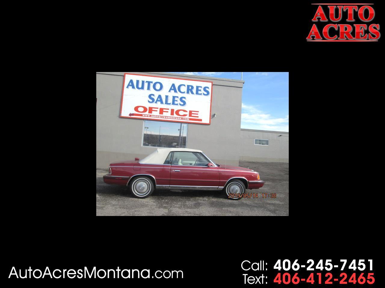 1986 Chrysler LeBaron 2dr Convertible Mark Cross