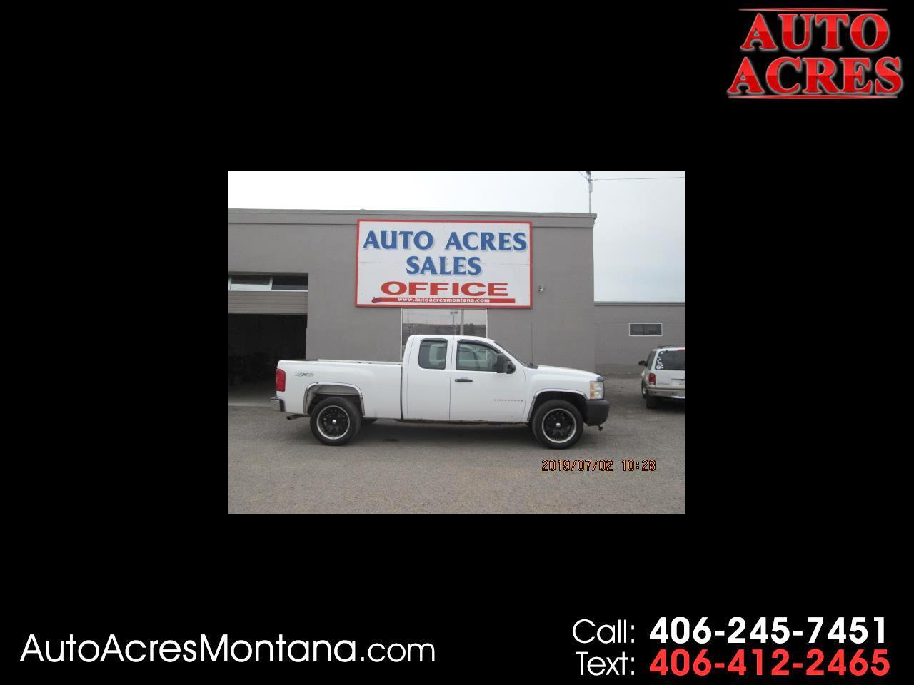 """2009 Chevrolet Silverado 1500 4WD Ext Cab 143.5"""" Work Truck"""