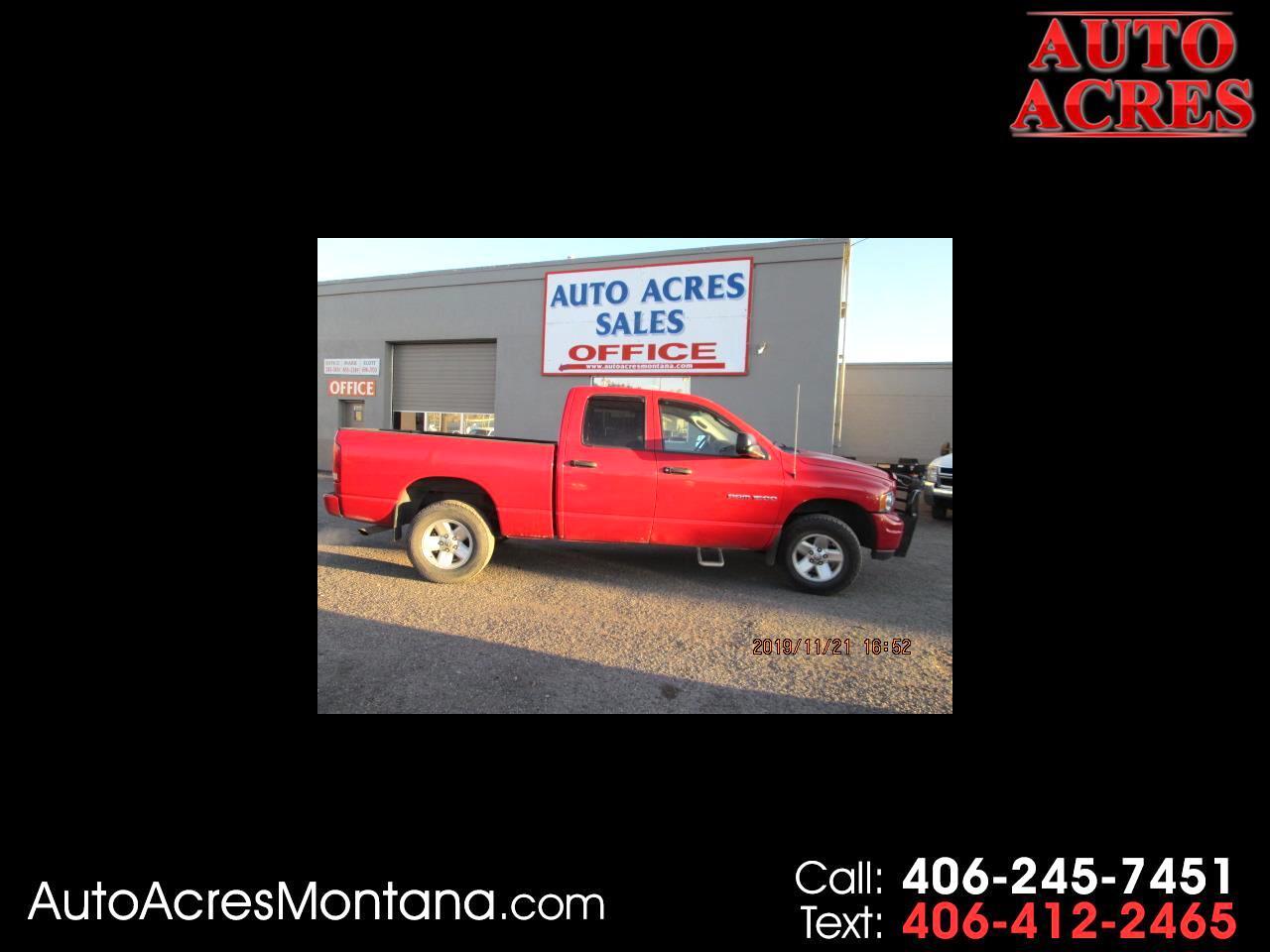 "Dodge Ram 1500 4dr Quad Cab 140"" WB 4WD 2002"