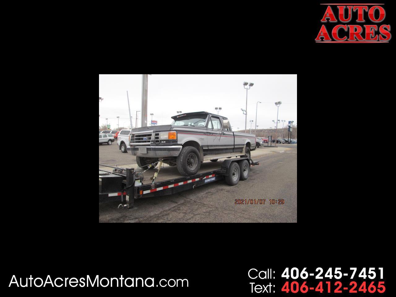"Ford 3/4 Ton Trucks HD Supercab 155"" WB 4WD 1989"