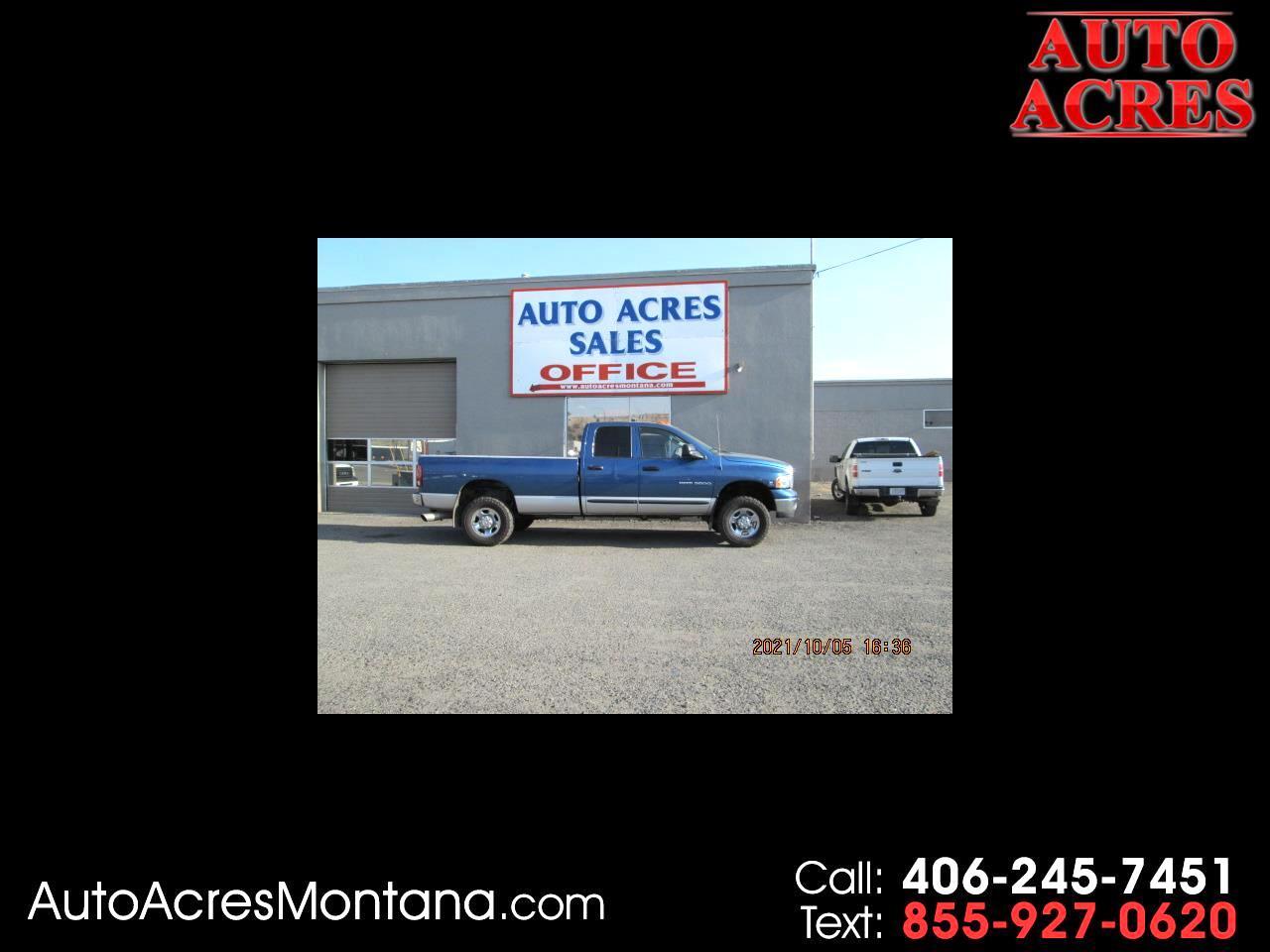 "Dodge Ram 3500 4dr Quad Cab 140.5"" WB 4WD SRW SLT 2004"