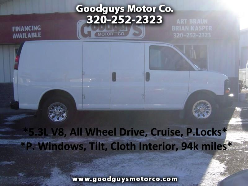 "2011 Chevrolet Express Cargo Van AWD 1500 135"""