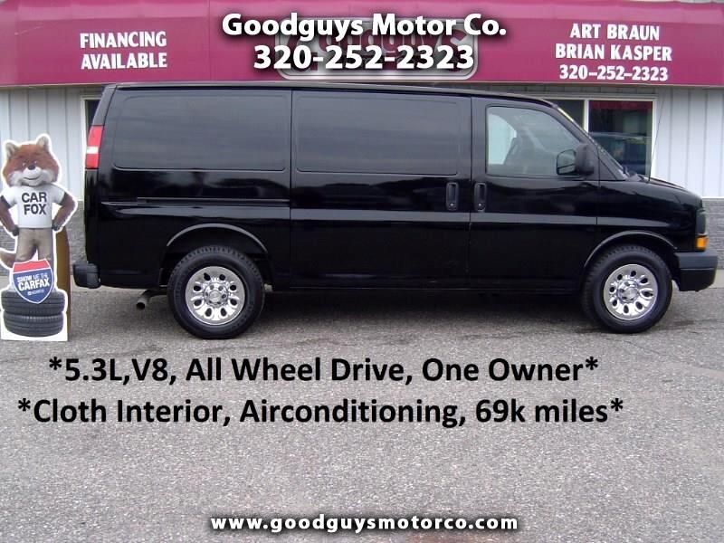 "2010 Chevrolet Express Cargo Van AWD 1500 135"""