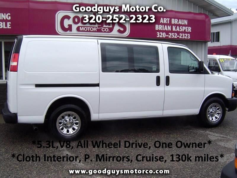 "2012 Chevrolet Express Cargo Van AWD 1500 135"""