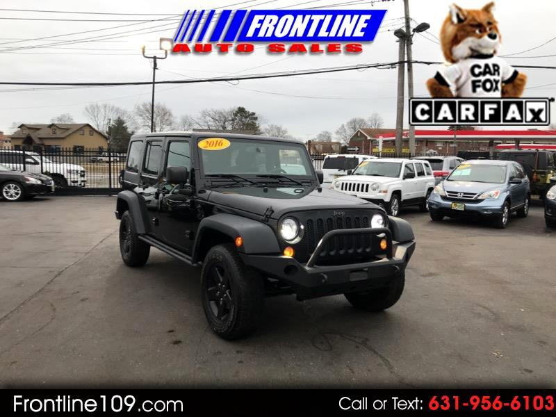 2016 Jeep Wrangler unlimited 4 door BLACK BEAR
