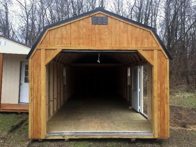 2018 Backyard Outfitters Lofted Garage 12x28