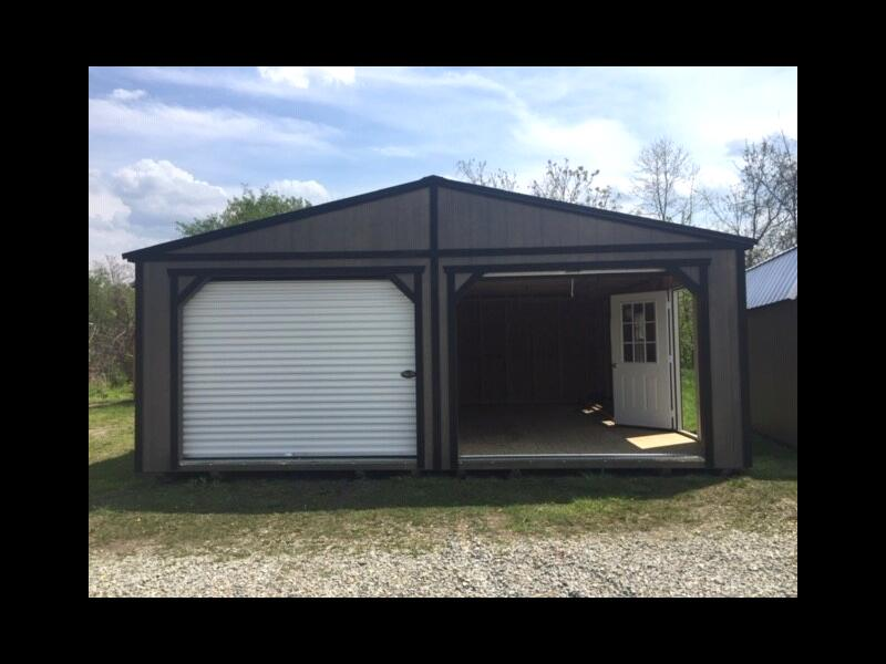 Backyard Outfitters Double Wide Garage  2019
