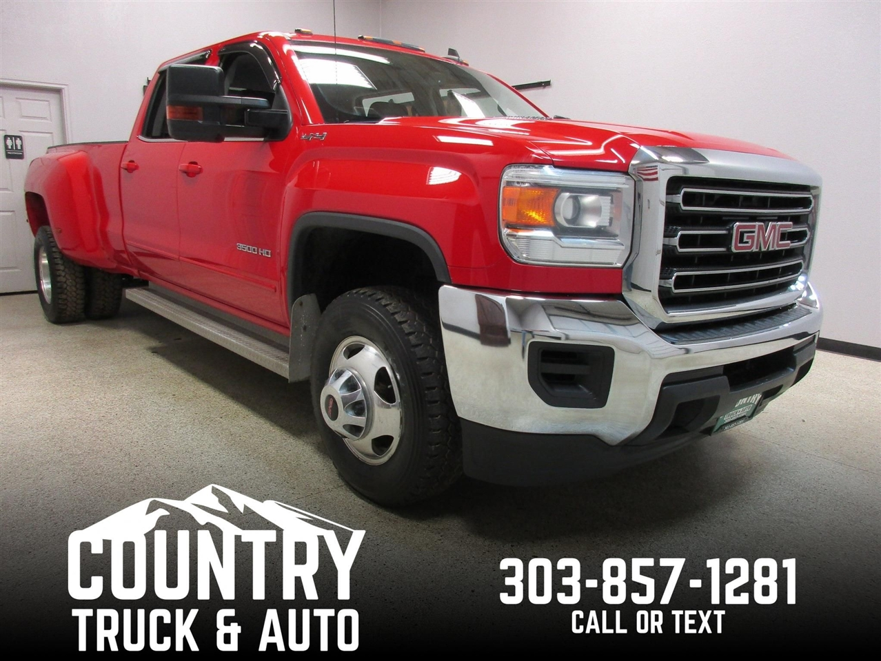 2015 GMC Sierra 3500HD SLE Crew Cab Long Bed 4WD DRW