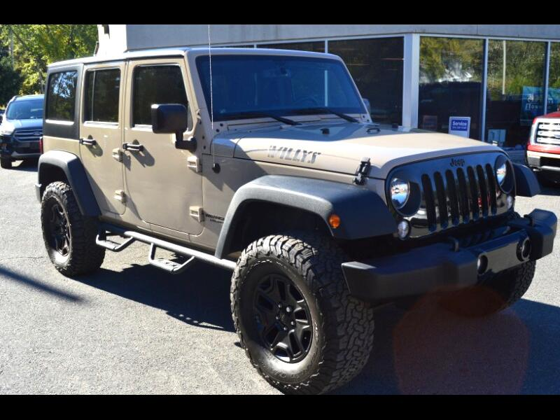 2016 Jeep Wrangler Willys Wheeler 4x4