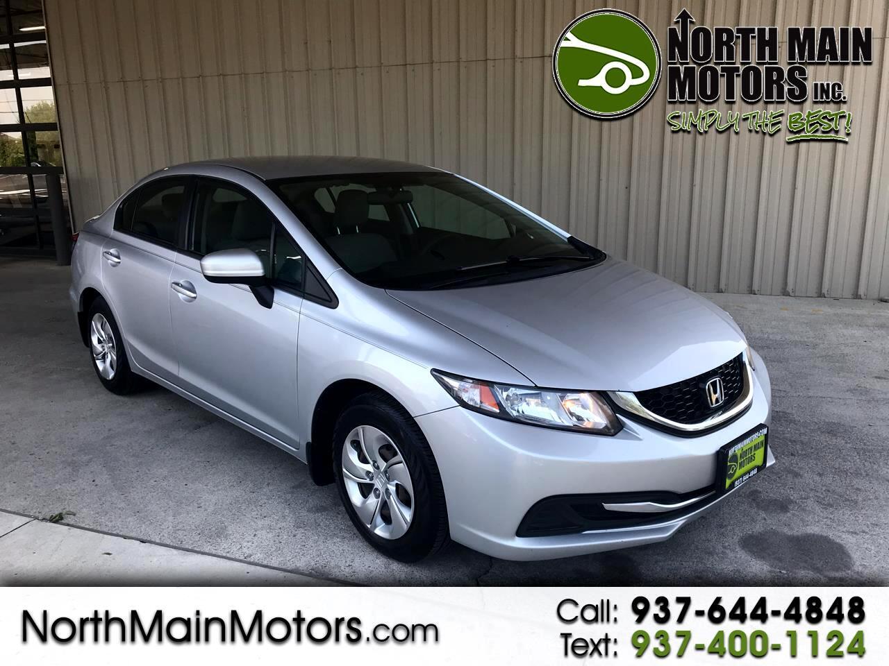 Used 2014 Honda Civic Lx Sedan Cvt For Sale In Marysville Oh 43040 North Main Motors