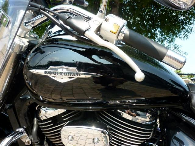 2005 Suzuki C50 Boulevard 800cc cruiser windshield studded seat and bags run