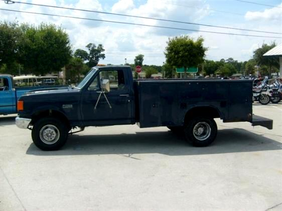 1988 Ford F-350 Diesel Utility Truck with tool boxes built in runs