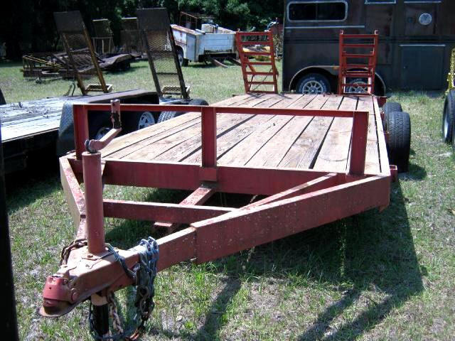 1990 Anderson Equipment Trailer Clean with built in ramps