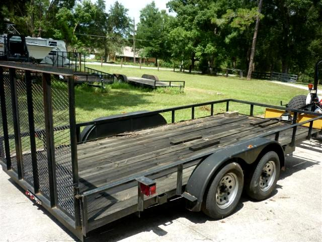 2002 AllPro Utility Trailers 6x12 tandem axle with ramp