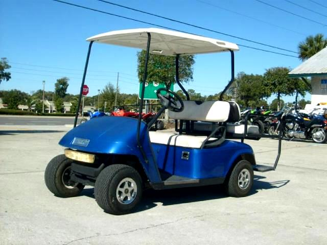 2002 EZGO Golf Cart Electric good batteries with charger ready to hit
