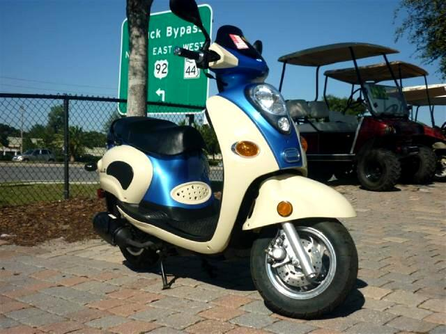 2008 Linhai 150 Sport scooter two toned paint classic look