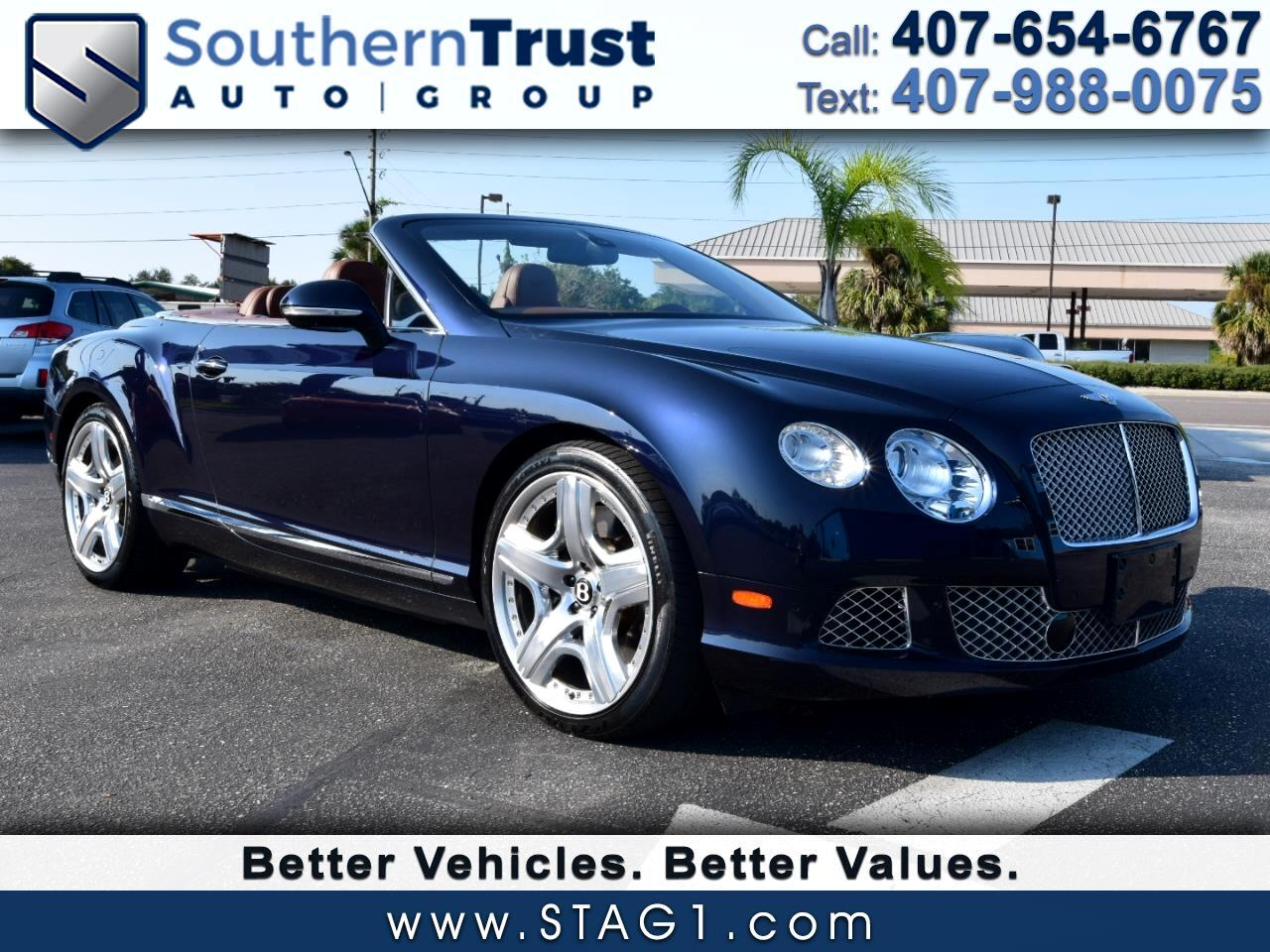 Bentley Continental GT 2dr Conv 2013