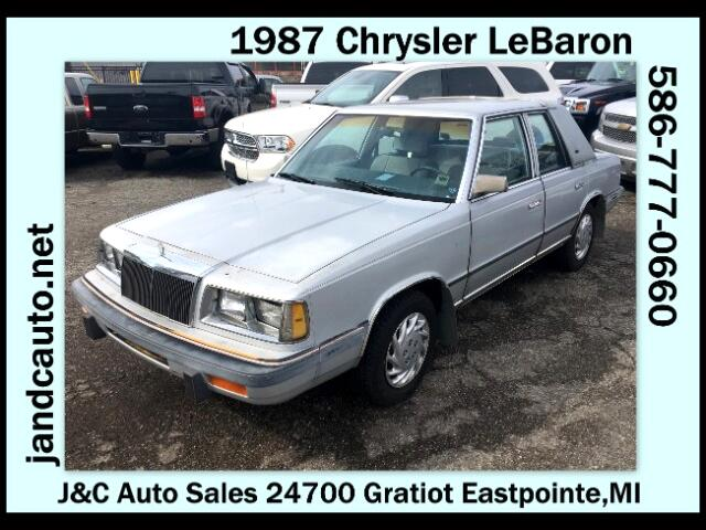 1987 Chrysler LeBaron Sedan