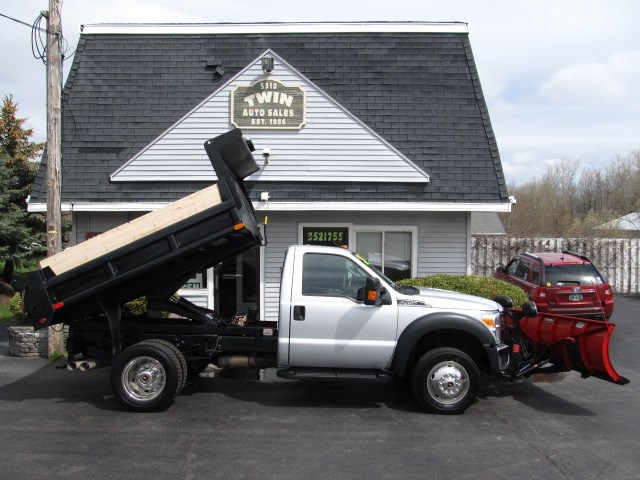 2013 Ford F-450 SD Regular Cab 4x4 DRW 8' Dump Body 9' Boss Plow