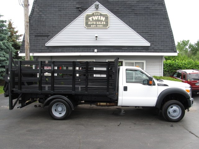 """2012 Ford F-450 SD Reg Cab 12'6"""" Stake Body End Lift Gate 2WD DRW"""