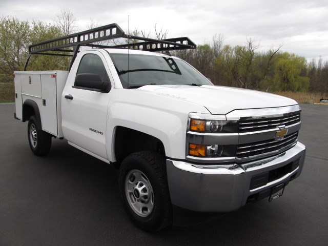 2014 GMC Sierra 2500HD Regular Cab Open Utility Body Ladder Rack 2WD SRW