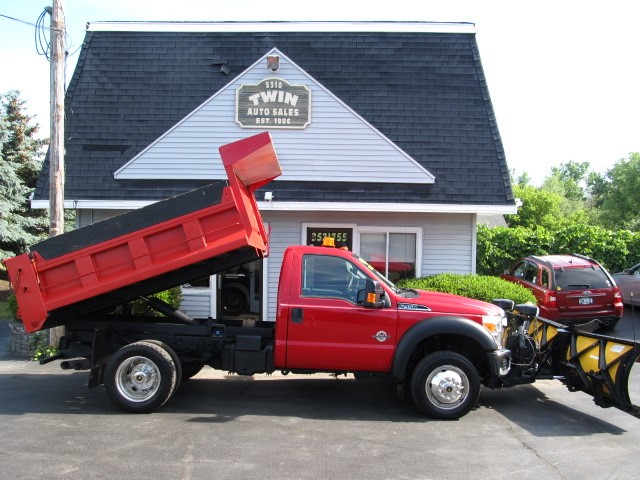 "2011 Ford F-450 SD Regular Cab 4WD DRW Dump Body 9'6"" Extreme V Plow"