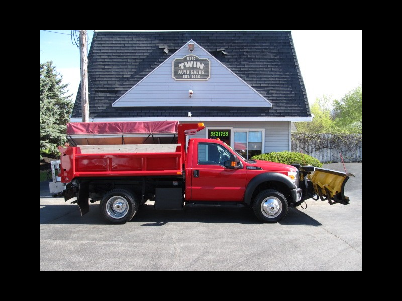 2013 Ford F-550 4x4 Reg Cab 9' Dump body 8.6' Plow w/curb guards S
