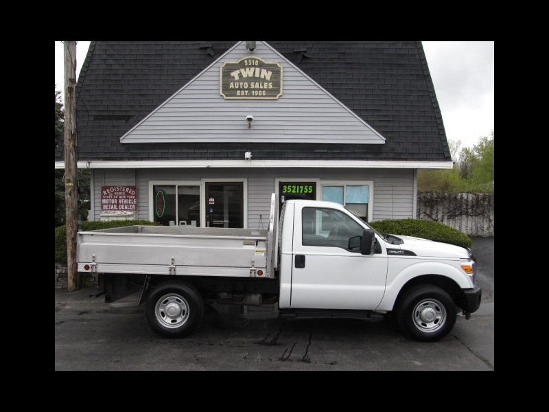 2013 Ford F-250 SD Reg Cab 9' Landscape body w/ Drop-down sides