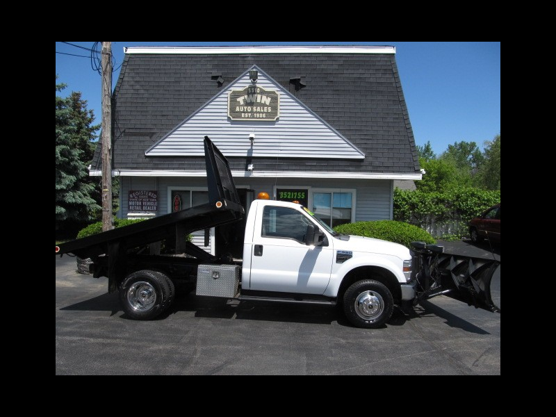 2008 Ford F-350 SD XL 4X4 Flatbed/Dump  Fisher SS Plow DRW