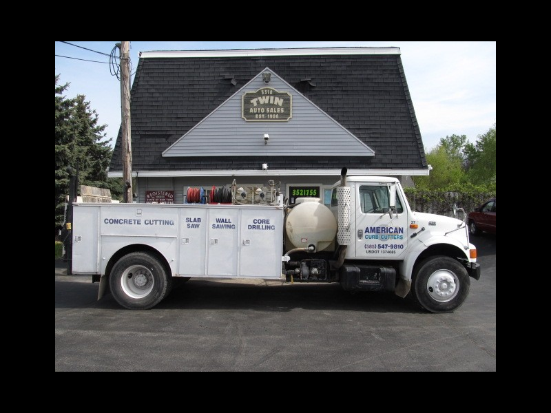 1995 International 4900 DT466 Diesel Open Utility Service Body