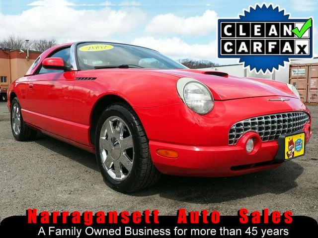 2002 Ford Thunderbird Red Hard + Soft Tops Chrome Wheels Like New