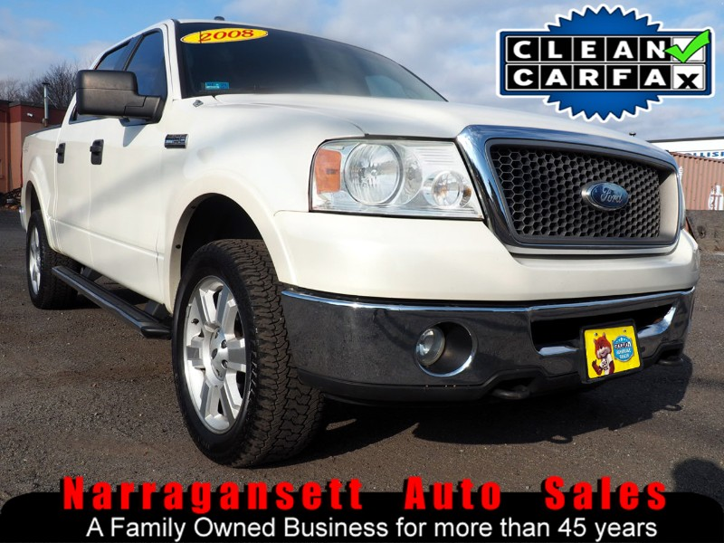 2008 Ford F-150 XLT Lariat 4X4 SuperCrew Pearl White Leather