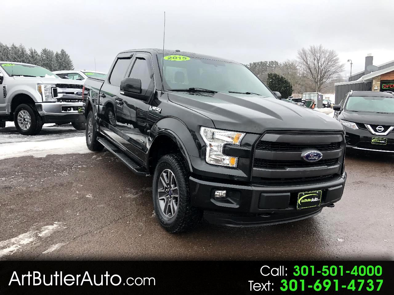 "2015 Ford F-150 4WD Crew Cab 145"" Lariat with Sport Appearance Pkg"