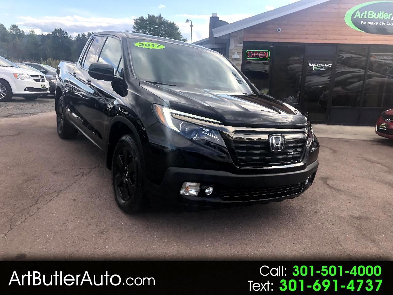 2017 Honda Ridgeline Black Edition 4x4 Crew Cab 5.3' Bed