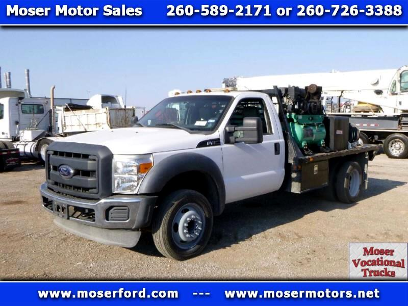 2012 Ford F-450 SD flat bed gooseneck service truck