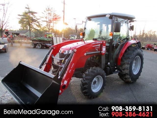 2017 Massey Ferguson Farm MF1758 CAB TRACTOR 4X4 WITH LOADER
