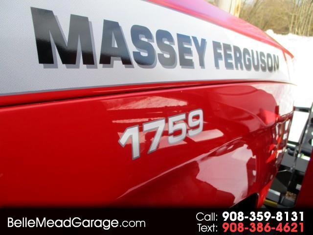 2017 Massey Ferguson Farm 1759 PREMIUM PLATFORM 4X4 LOADER TRACTOR