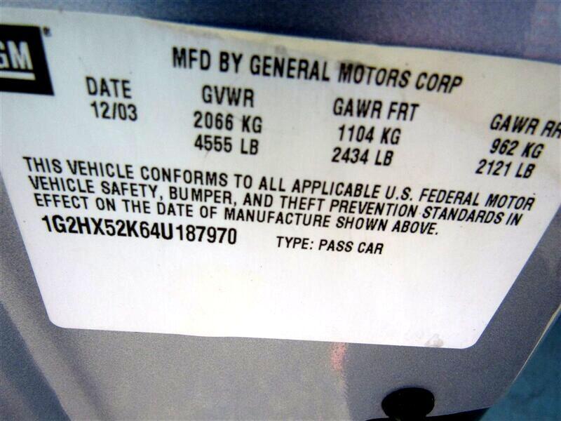 2004 Pontiac Bonneville 4dr Sdn SE
