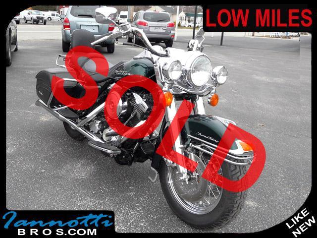 1996 Harley-Davidson Road King 2-Tone Green & Black Leather Bags Only 11K Miles