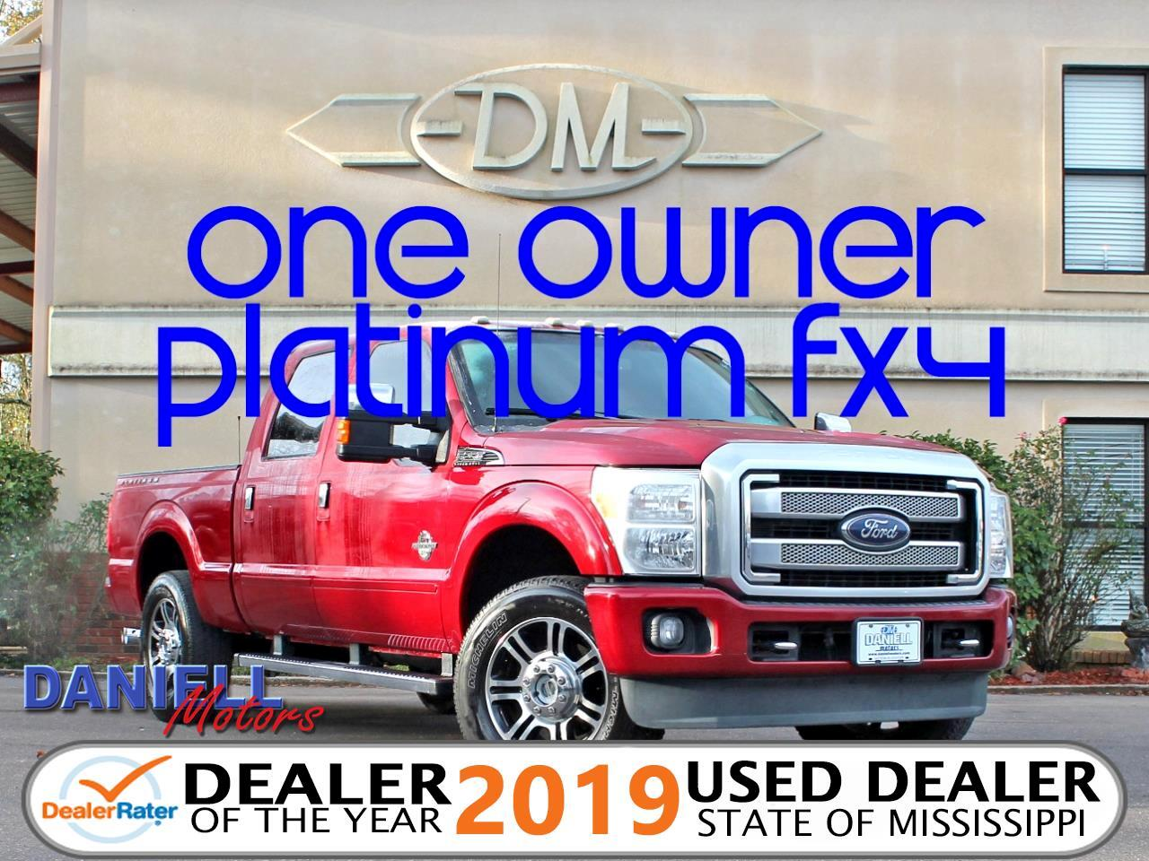 2014 Ford F-250 SD Platinum Crew Cab Short Bed 4WD