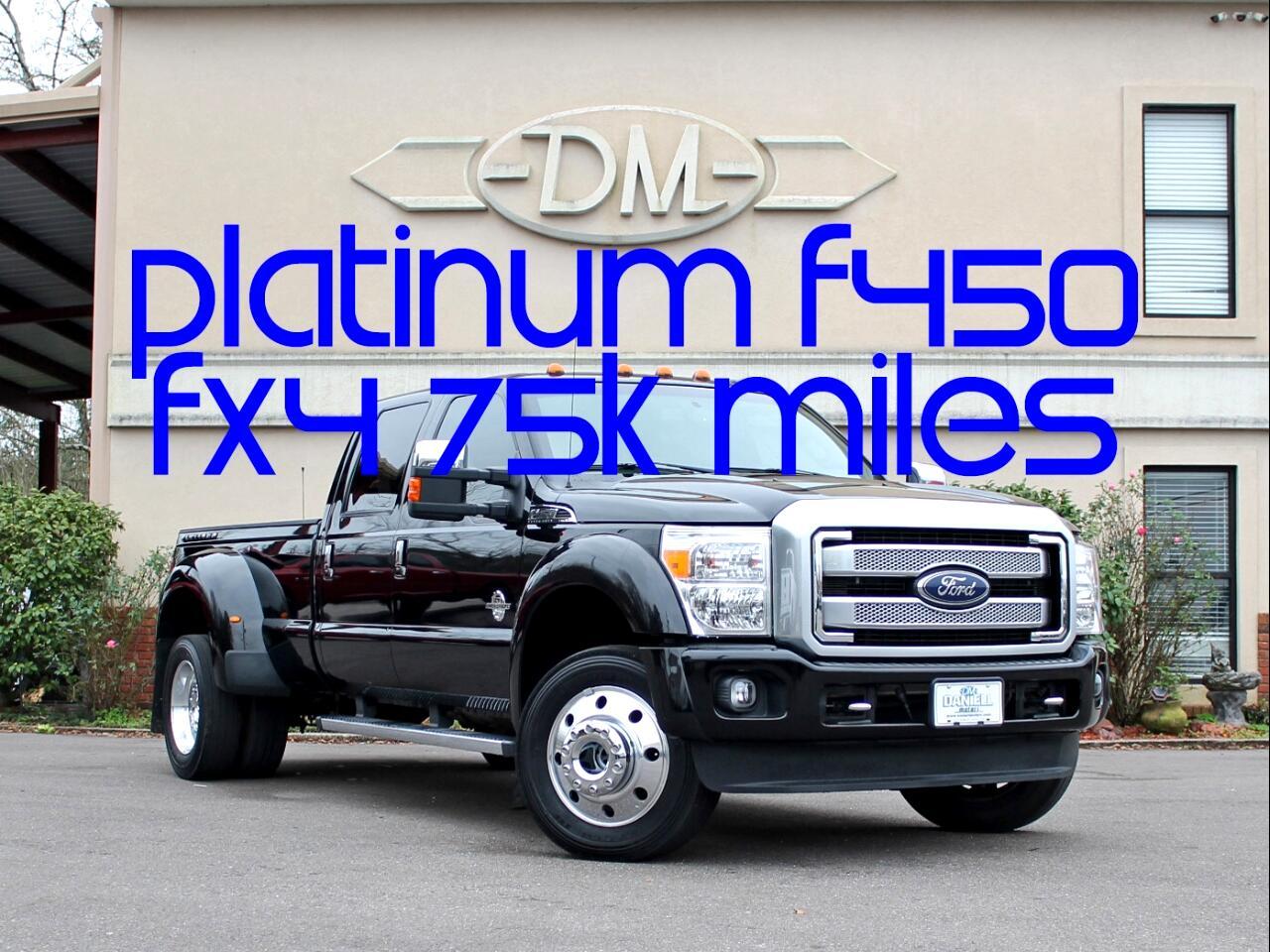 2016 Ford F-450 SD Platinum Crew Cab DRW 4WD