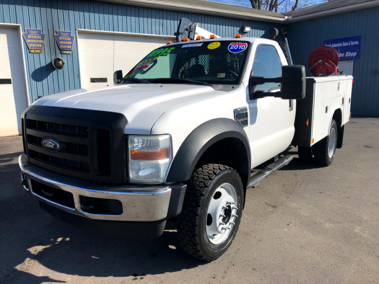 2010 Ford Super Duty F-450 DRW 4WD Mechanic Crane Utility Truck