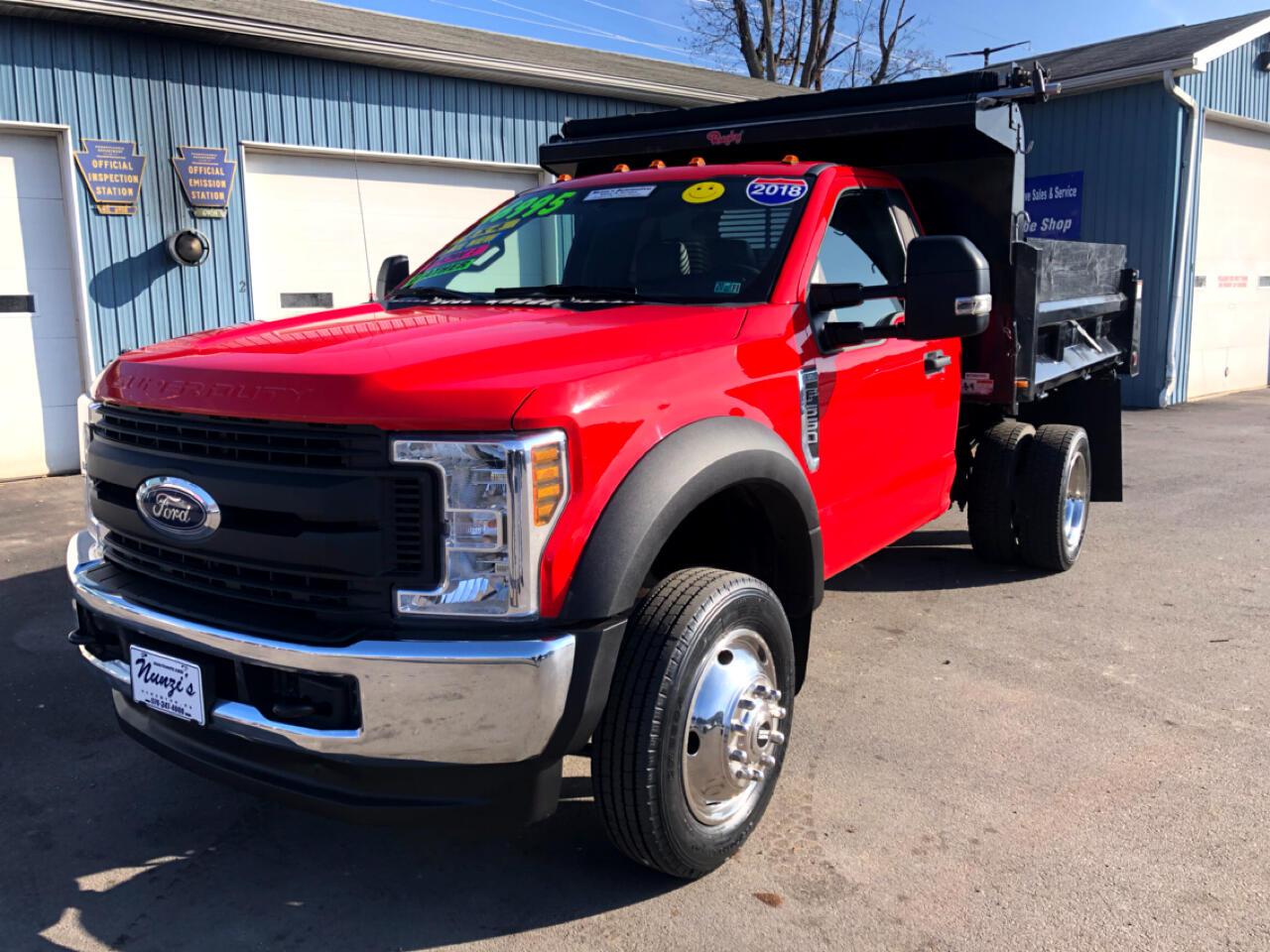 2018 Ford Super Duty F-550 DRW XL 4WD Dump Truck