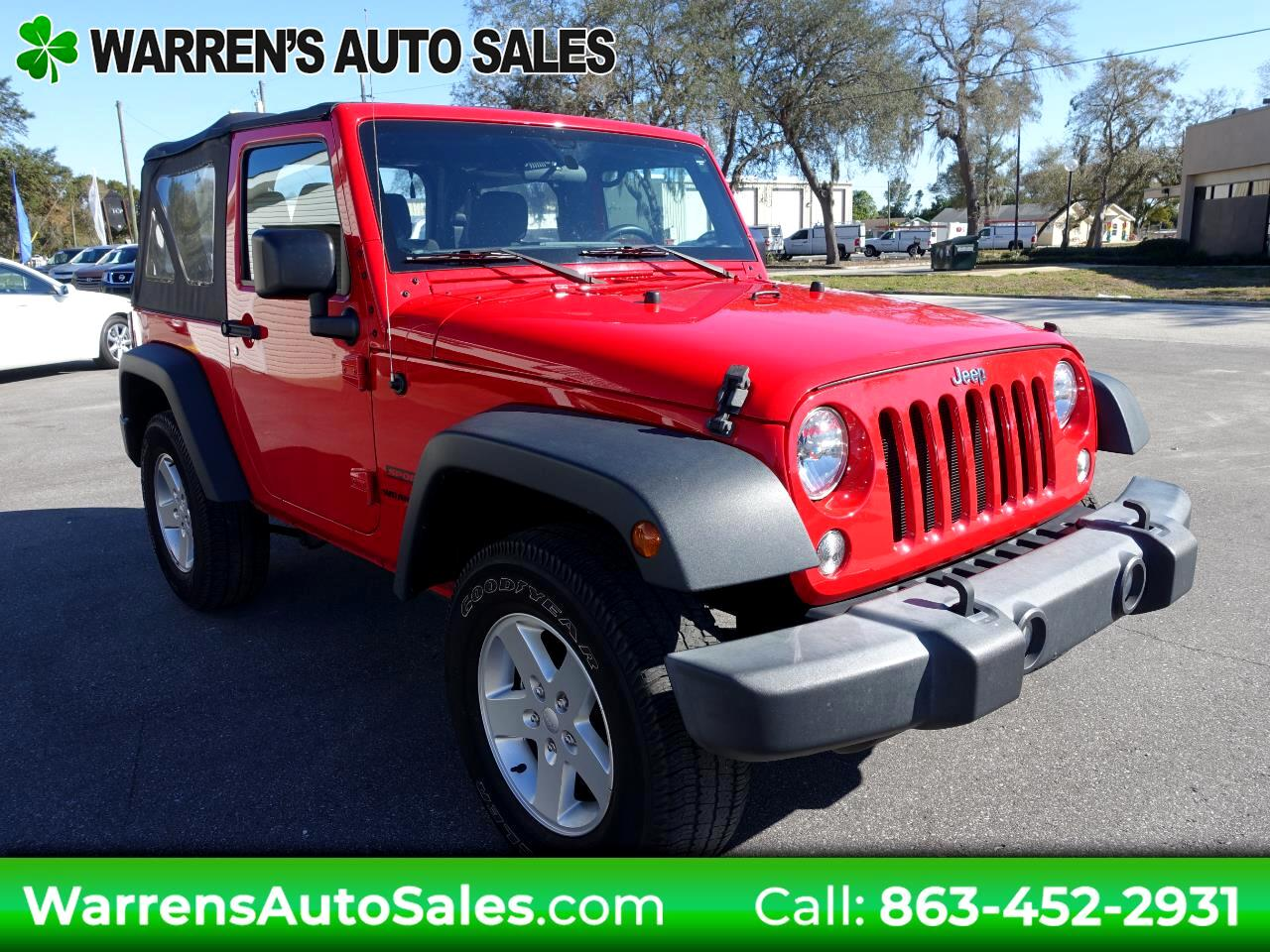 2016 Jeep Wrangler 4WD 2dr Sport S