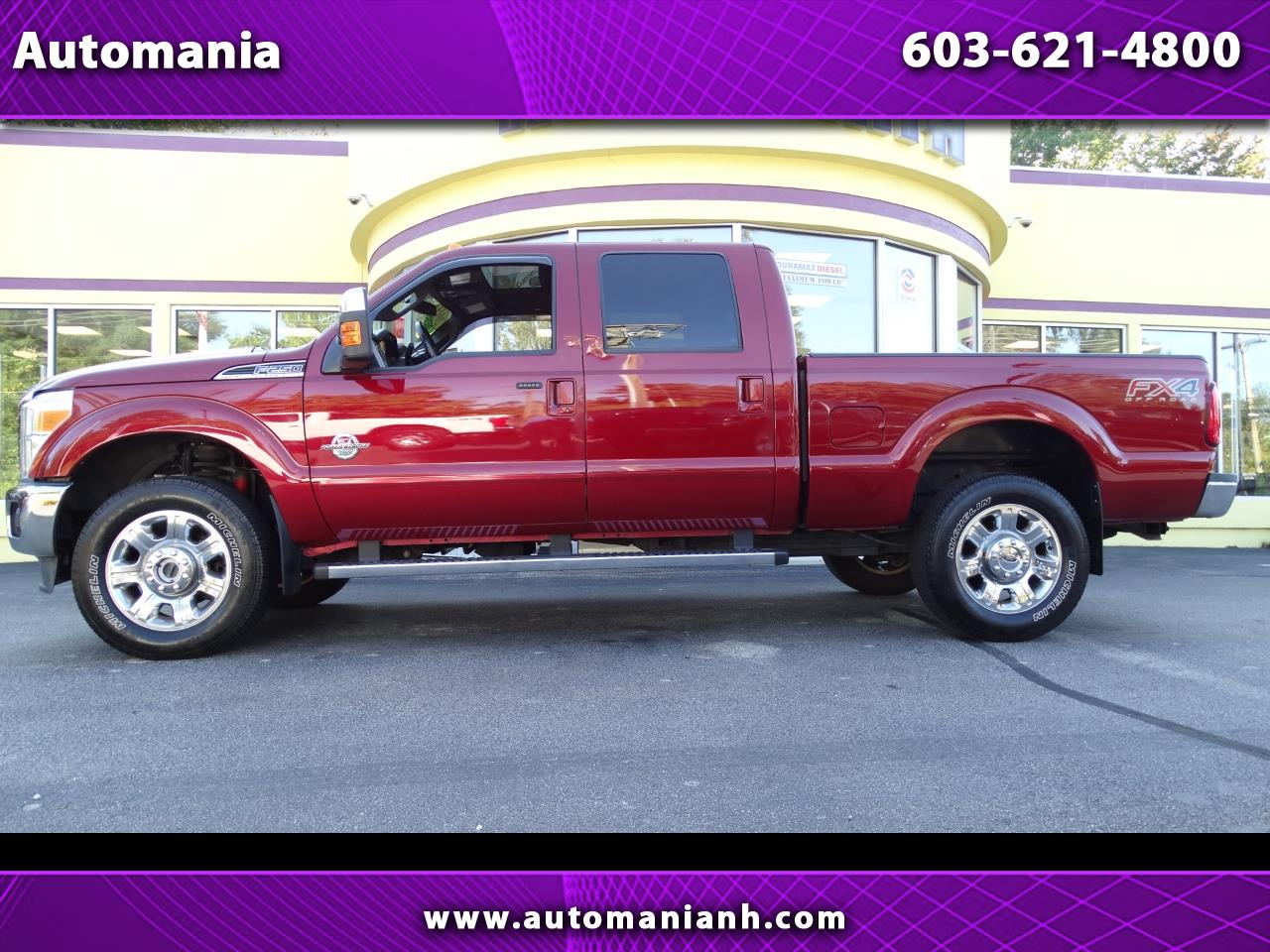 2014 Ford F-250 SD DIESEL CREW CAB LARIAT 4WD SHORT BED POWERSTROKE T