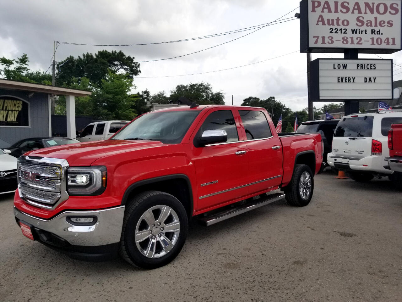 2016 GMC Sierra 1500 SLT Crew Cab Long Box 2WD