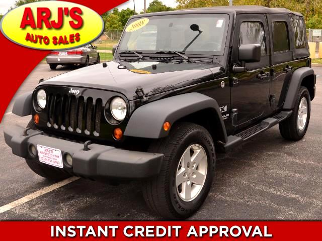 buy here pay here 2008 jeep wrangler unlimited x 4wd for sale in cleveland oh 44102 arj 39 s auto sales. Black Bedroom Furniture Sets. Home Design Ideas
