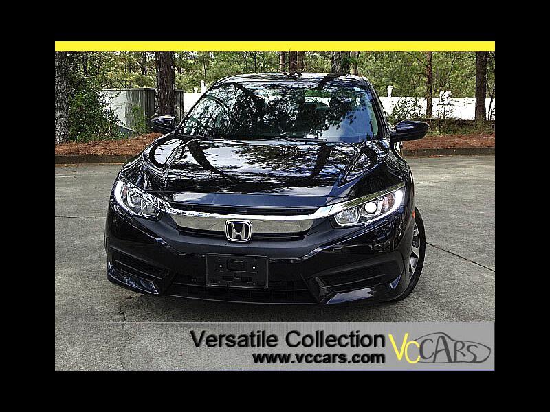 2016 Honda Civic Sedan EX Sedan CVT Blind Spot Camera Sunroof XM BT Alloy