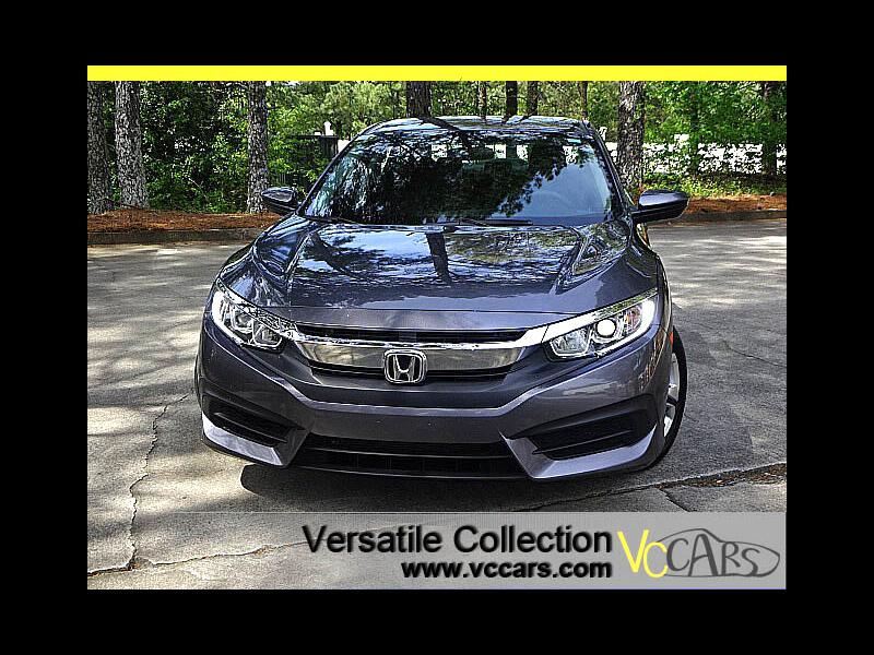 2016 Honda Civic Sedan LX 6 Speed Manual Back Up Camera XM BT