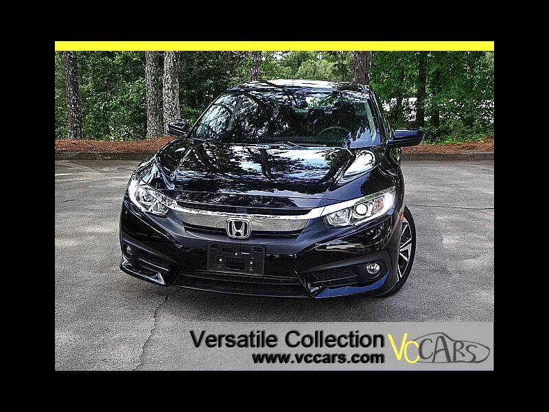 2016 Honda Civic Sedan EX-T CVT Tech Blind Spot Camera Sunroof LED XM BT